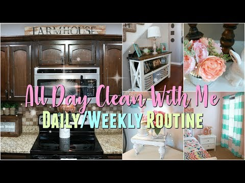 All Day Clean With Me/ Daily-Weekly Cleaning Routine/ The Best Sheets EVER-Cleaning Motivation