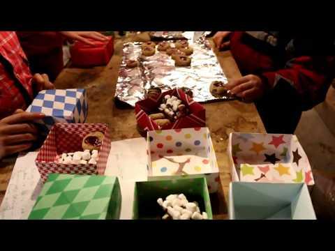 DIY origami treat boxes...& cookies!