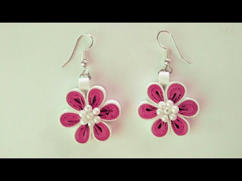 DIY Quilling Flower Earring/ How to make Quilling Flower Earring