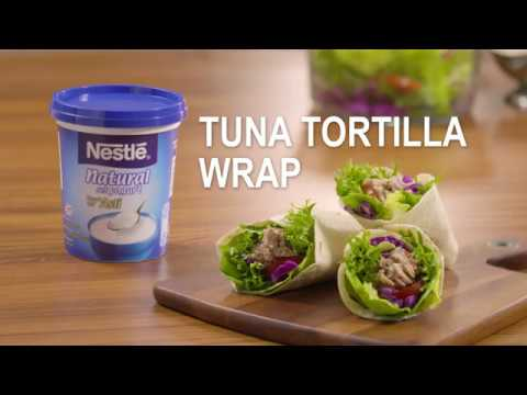 Nestlé Natural Set Yogurt Recipe: Tuna Tortilla Wrap