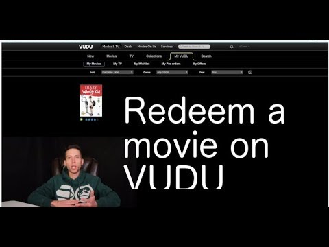 How to redeem a digital movie code on Vudu
