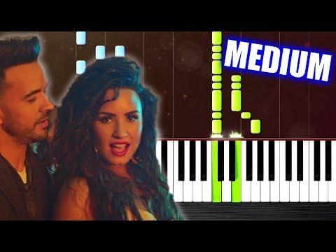 Luis Fonsi, Demi Lovato - Échame La Culpa - Piano Tutorial (MEDIUM) by PlutaX