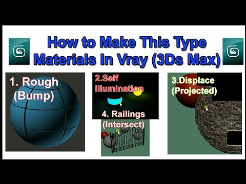 How to make vray materials for 3ds Max || For Beginners