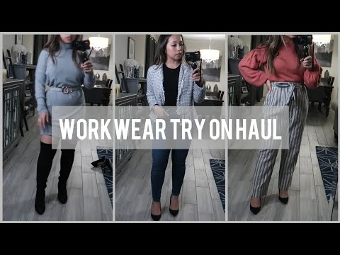 HAUL + TRY ON Workwear   Business Casual   STYLE