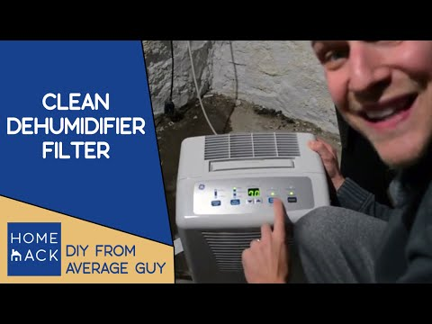 Clean filter on GE dehumidifier