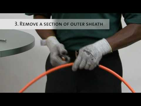 Outer Sheath and Armor Removal Procedure for Interlocking Armored Cables