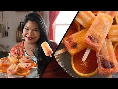 Sparkling Orange Popsicles l Jen Phanomrat