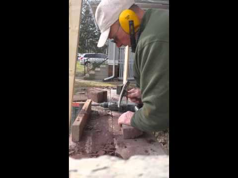 Kenny cleaning brick for reuse