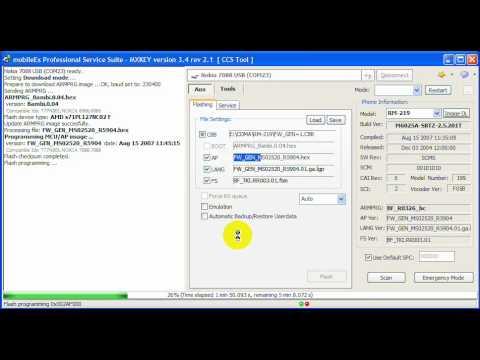 Nokia  7088 flashing mx-key.wmv