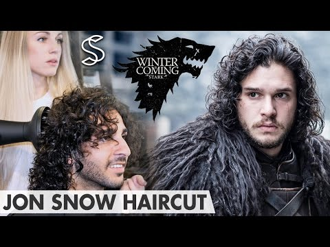 Jon Snow Hairstyle - Game of Thrones Kit Harington - Curly hair men