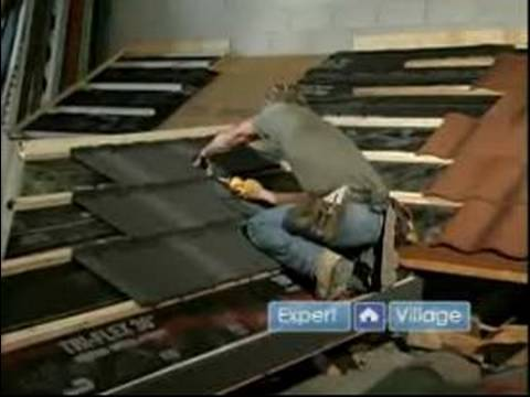 How to Roof a House : How to Install Wood Shake Tile Roofing