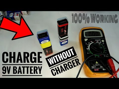 How to Charge 9V Battery without Charger | New Trick 2018