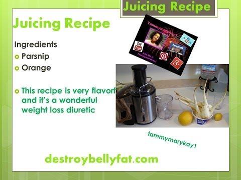 Juicing Recipie- Parsnip, Orange Juice and Lemon