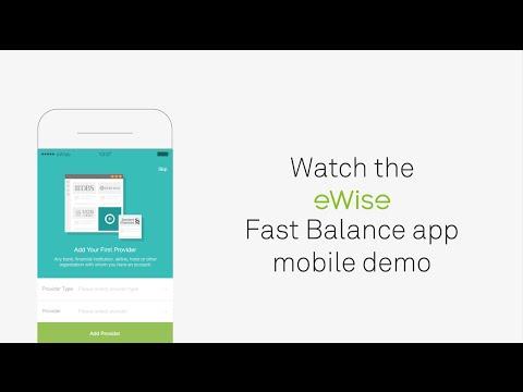 Australia - eWise Fast Balance app mobile demo