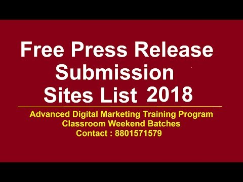 Free press Release submission sites list 2018 | Top Press Release submissions sites