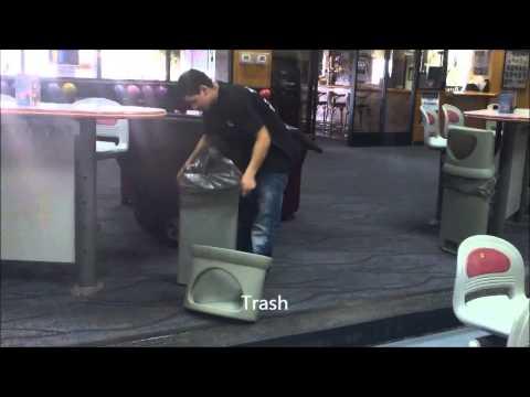 Entertainment establishment cleaning