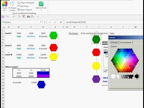 How to  add Conditional Format to Shapes in Excel and edit rules