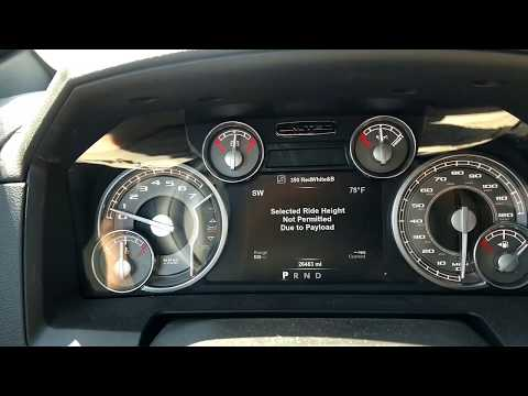2017 Ram 1500 payload capacity limit! - Factory air suspension.
