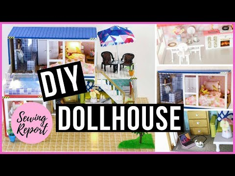 DIY Miniatures Dollhouse Kit 🏠 Tiny Container Home with Custom Finishes | SEWING REPORT