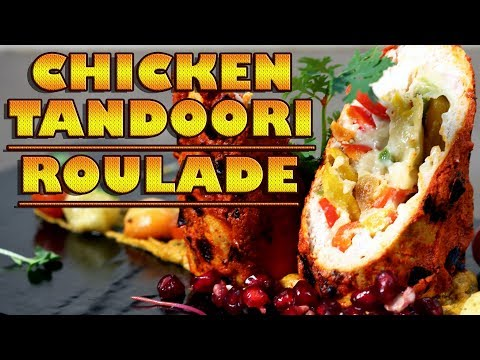 Stuffed Tandoori Chicken Roulade With Almond And Cardamom Sauce | Cook Book In Imagica
