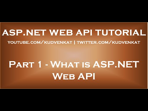 What is ASP NET Web API