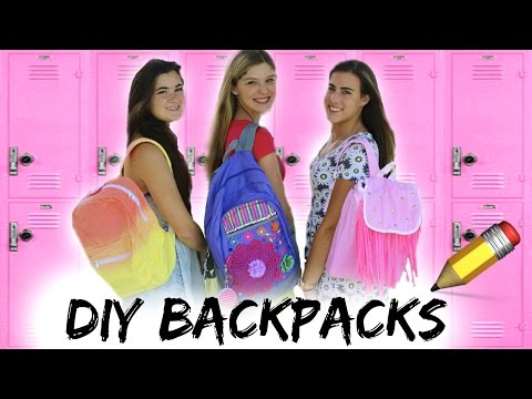 Back to School: DIY Backpacks + Giveaway!