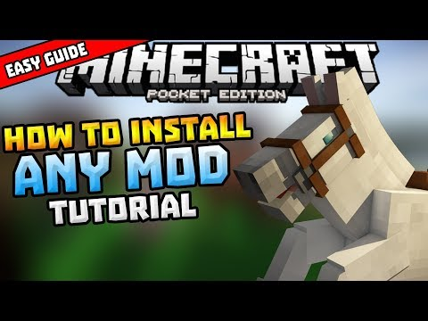 How to Download Mods on MCPE (NO JAILBREAK) (NO PC)