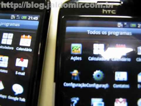 Teste HTC Magic - Android 1.5 x 2.1 - video 2