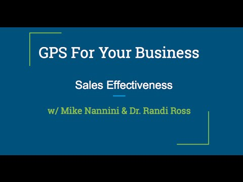 GPS For Your Business-Understanding and Improving Sales Effectiveness