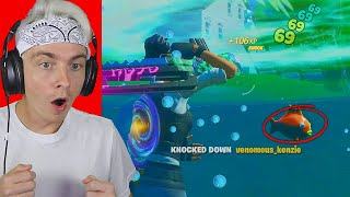i can only kill players under water in fortnite... (so broken)