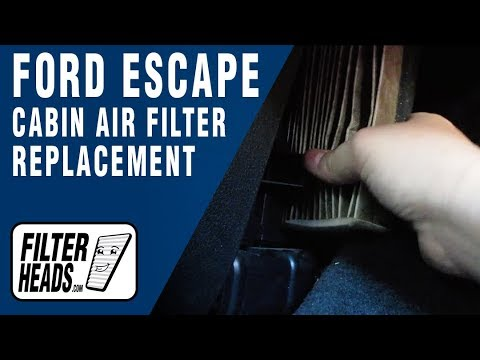 How to Replace Cabin Air Filter 2014 Ford Escape