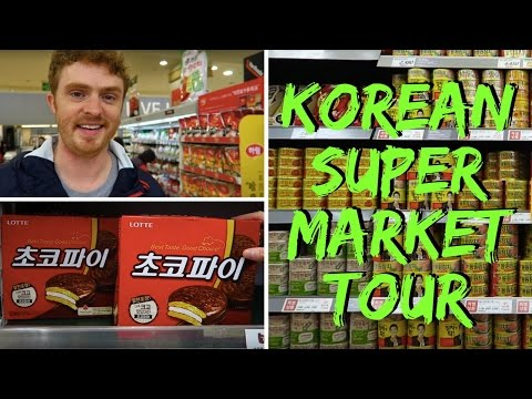 Korean Supermarket Tour and Food Prices: Grocery Shopping in Seoul, Korea at Lotte Mart (롯데마트 서울역점)