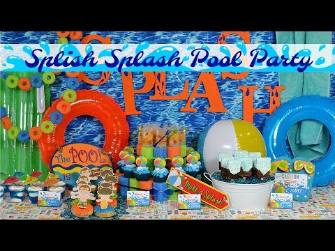 Splish Splash Pool Party Ideas