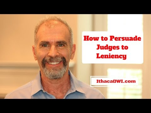 How to Persuade A Judge to Leniency