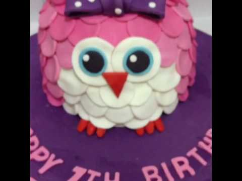 Owl cake made by chef Jojit