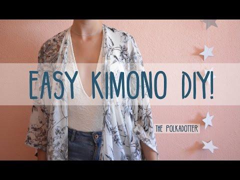 Easy Kimono DIY   4 Steps