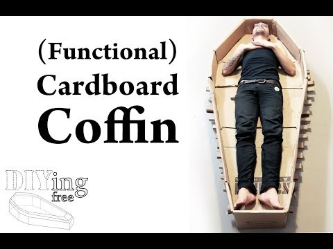 How to make a coffin out of cardboard (DIYing Free)