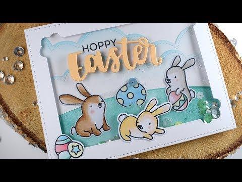Save The Crafty YouTuber Blog Hop - Hoppy Easter Shaker Card ft Heffy Doodle