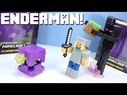 Minecraft Survival Mode Toys Enderman Iron Armor Steve & Shulker Mattel