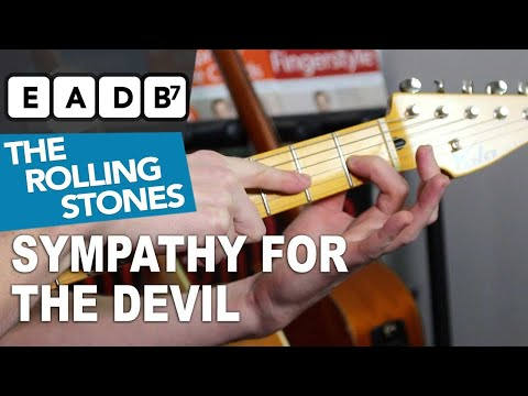 Sympathy For The Devil EASY CHORDS - Rolling Stones Guitar Lesson for Beginners