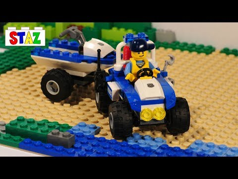 Police quad bike with jet ski - LEGO City 60086 Starter set