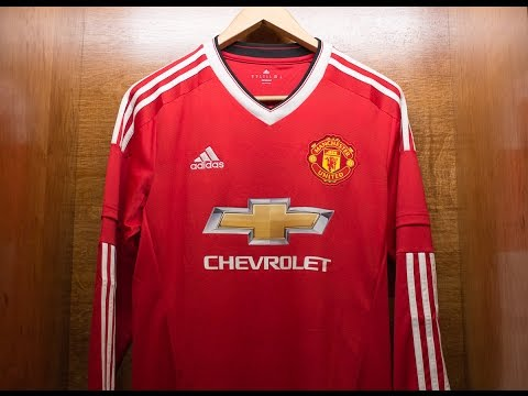 dce6debe9c9 Adidas Manchester United FC 2016 17 Home Fan Jersey Unboxing Review ...