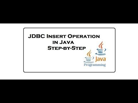 Jdbc Insert Operation in java