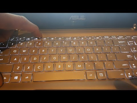 How to Turn On/Off Keyboard Back light And Screen Brightness Asus Laptops