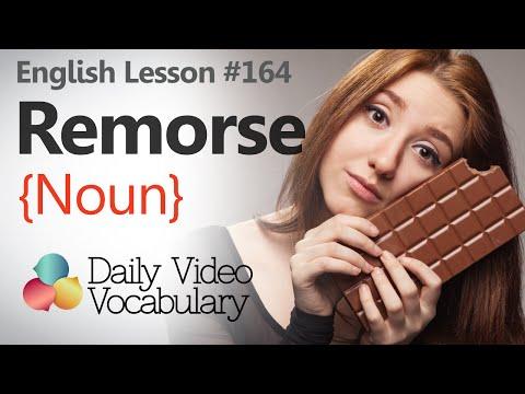 English Lesson # 164 – Remorse (noun) - Learn English Pronunciation & Vocabulary.