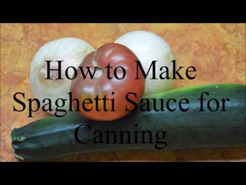 How to Make Spaghetti Sauce for Canning