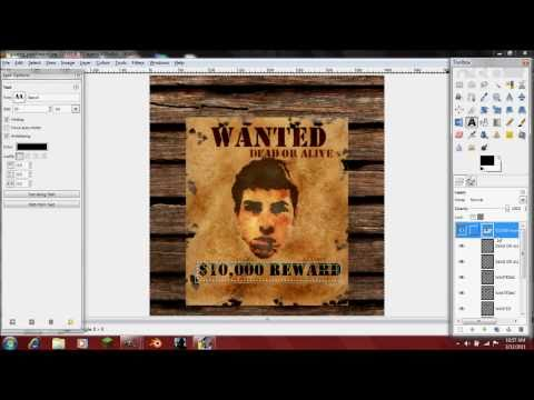 How to Make a Western Style Wanted Poster in Gimp