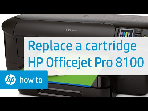 Replacing a Cartridge on your HP Officejet Pro 8100 Printer