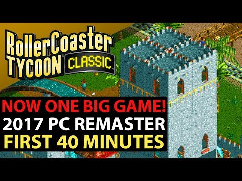 Roller Coaster Tycoon Classic PC Steam Gameplay - OPENING 40 MINUTES - New Features!