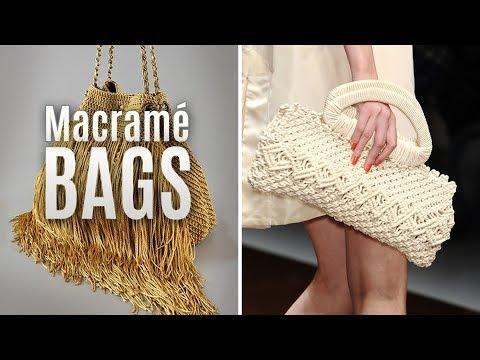 Macramé Bags, Handbags, Purses, Clutches, Fashion Style ideas